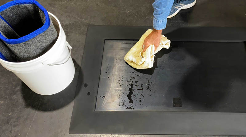 SaniStride easy maintenance of shoe sanitizer mat system