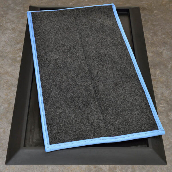 """SaniStride Stride 1"""" deep shoe disinfecting mat diminishes the cross-contamination of germs once customer adds disinfectant to the boot dip system"""