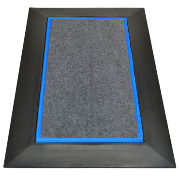 """SaniStride Low Profile 1/2"""" deep shoe sanitizer mat disinfects the bottoms of footwear once customer adds sanitizer, meets ADA specifications"""