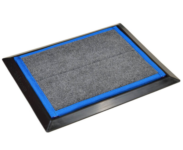 Sanistride Sports shoe disinfecting mat, add shoe sanitizer and kill 99.9% of germs on bottoms of shoes, use for athletics and small clinical spaces