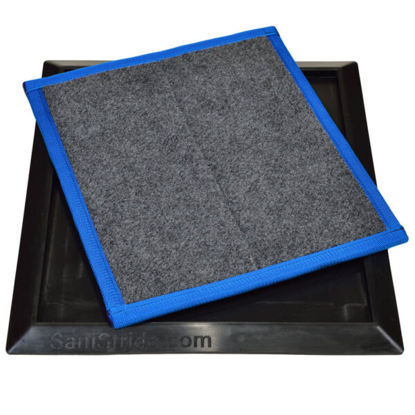 SaniStride Sports Shoe sanitizer mat diminishes the spread of germs with sanitizer added by customer