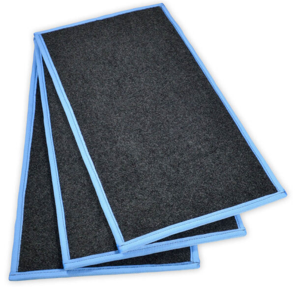 SaniStride customer adds shoe sanitizer to shoe disinfecting mat insert diminishing the spread of germs