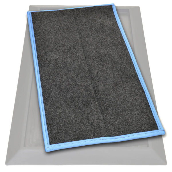 Sanistride shoe sanitizer mat insert that dispenses disinfectant added by customer to bottom of shoes thoroughly saturating treads