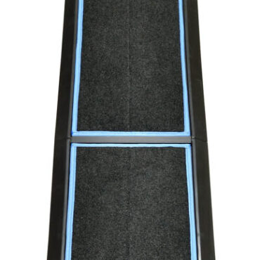 SaniStride Stride 3 piece Long Runner sanitizer boot bath mat system disinfects boot bottoms when sanitizer is added