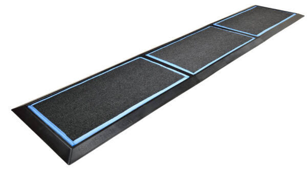 SaniStride Stride 3 piece Long Runner disinfecting boot bath mat system sanitizes shoe bottoms when sanitizer is added