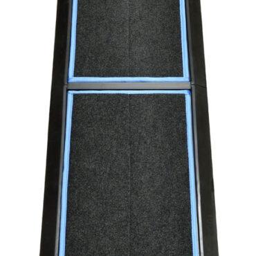 "SaniStride 1"" deep 2 piece Long Runner boot dip mat system sanitizes boot bottoms once sanitizer is added"