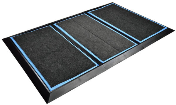 SaniStride Stride 3 piece Wide Runner boot disinfecting mat system sanitizes footwear bottoms once sanitizer is added
